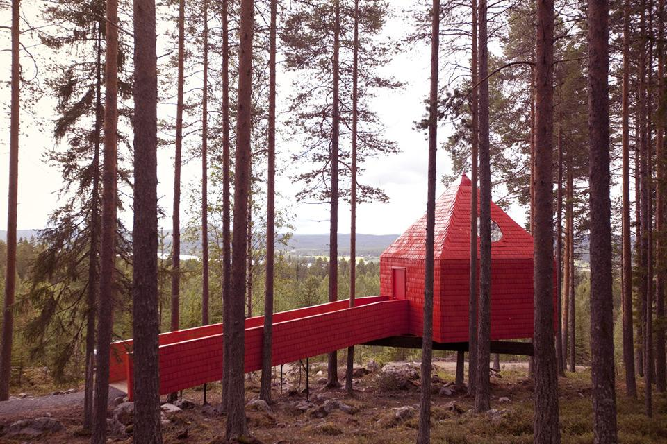 Treehotel Se The Blue Cone